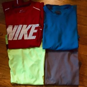 4 Boys Athletic T-Shirts M 10-12 for Play/Camp